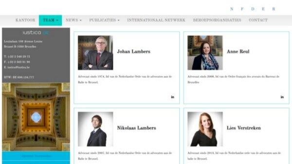 Schermafbeelding van iustica.be