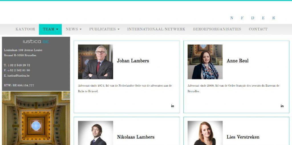 screenshot www.iustica.be