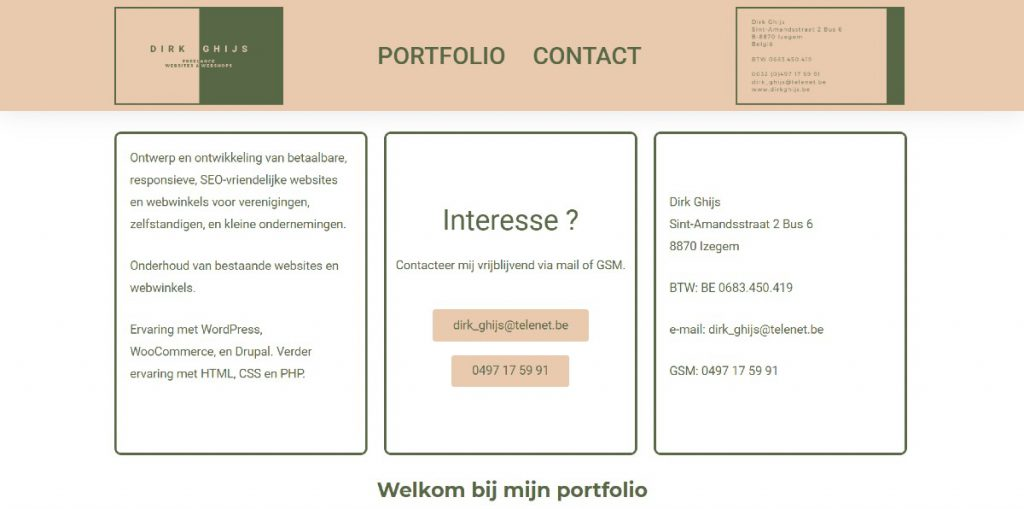 Schermafbeelding dirkghijs.be