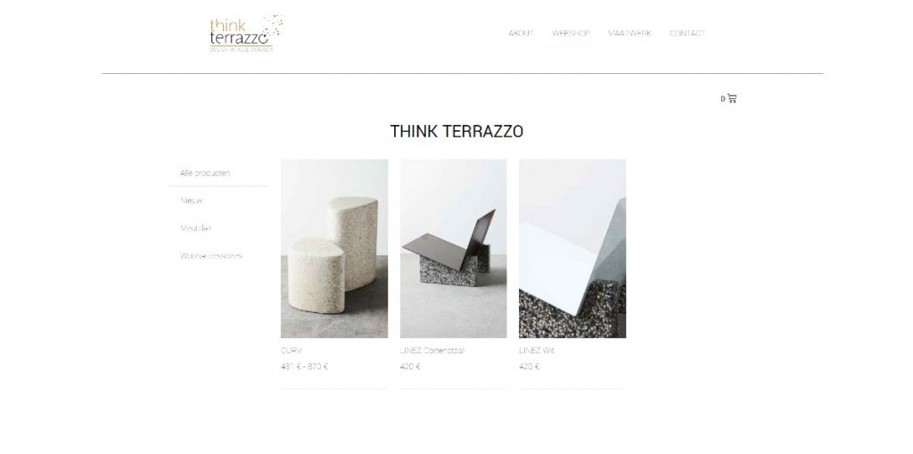 screenshot www.thinkterrazzo.com