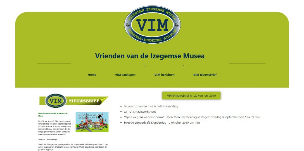 screenshot www.vimizegem.be